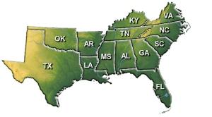 Southern-US-Map